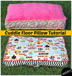 Cuddle Floor Pillow Tutorial and Matching Blankets