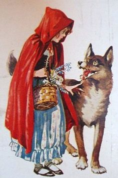 Little Red Riding Hood Wolf - Bing images Red Riding Hood Wolf, Little Red Ridding Hood, Red Hood, Image Halloween, Charles Perrault, Psychedelic Drawings, Images Vintage, Fairytale Art, Book Illustration