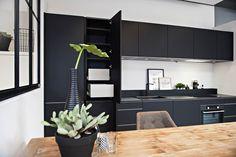 Recht Keuken Zwart : Beste afbeeldingen van zwarte keukens in