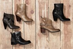 I want the beige studded booties!