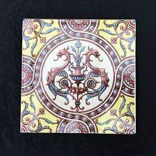 Orig. Tile - tile - painted - historicism - neo-renaissance - c.1890