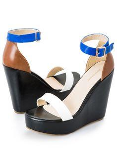 97c01ddc112 Colorblock Wide Width Wedge Sandal Platform Wedge Sandals