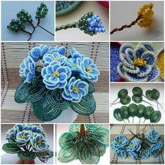 DIY Beaded Violet Flower Bouquet   iCreativeIdeas.com Follow Us on Facebook ==> www.facebook.com/iCreativeIdeas
