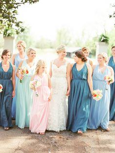 long bridesmaid dresses   The Happy Bloom