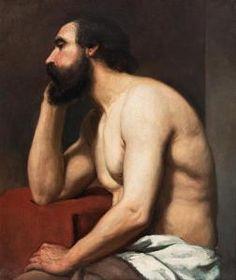 Albert Edelfelt - Study Of A Man.