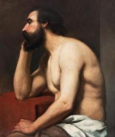 Albert Edelfelt - Study Of A Man.