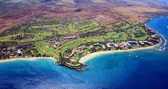 This is Ka'anapali Beach, where most of the hotels are located. As you can see, the hotels are just a few giant steps from the beach itself.