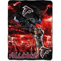 "NFL Sky Helmet Series 60"" x 80"" Royal Plush Raschel Throw, Atlanta Falcons $31.08"