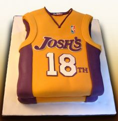 Personlized LA Lakers cake By the_cake_conjurer on CakeCentral.com