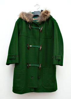 We've got our sights set on Emerald...    Green Toggle Parka   United Bamboo