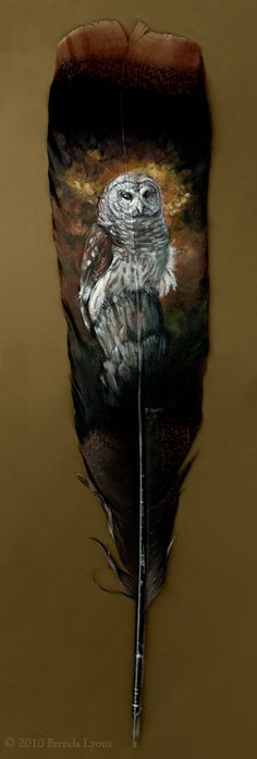 Painted Feathers - Brenda Lyons Illustration