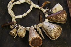 African Medicine Man JuJu: Necklace from Mali / Shell, Bone, Claws, Beads / Authentic Tribal African Antique / Collectible, Rare