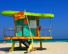 Lifeguard Stand on South Beach - Miami Beach, FL....Miami here we come...#3weekstogo