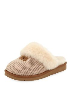 87e857aa670 Cozy Knit Slippers with Sheepskin by UGG Australia at Neiman Marcus Knit  Slippers