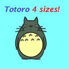 totoro aplique embroidery designs totoro semi aplique design embroidery machine