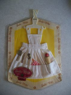 Barbie and Midge White Apron with Utensils, 1960's