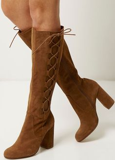 River Island Knee-High Lace-Up Boots