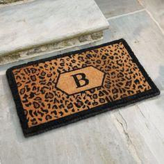 ...leopard print door mat...