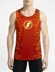 Flash / Guys Tank TopsGift Now Gym Workout Top Shop Online Mens Long Tank-Tops OSOM WEAR Abstract Anime Art Comics Fantasy Gaming Horror Minimalistic Movies Music TV Shows Sports