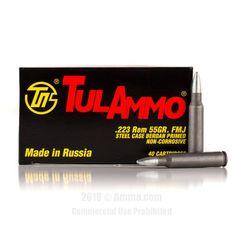 TulAmmo 223 Rem Ammo - 1000 Rounds of 55 Grain FMJ Ammunition #Tula #TulAmmo #223RemAmmo #223Rem #FMJ