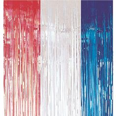 Decorations Red, Silver and Blue Metallic Door Curtain - 8ft £4.25 each