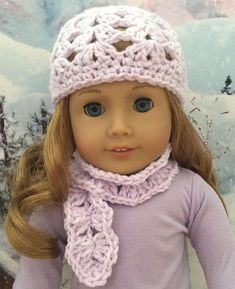Crocheted Scarf for 18-inch Dolls pattern by Janice Helge: 1) http://www.ravelry.com/patterns/library/crocheted-scarf-for-18-inch-dolls 2) http://www.ravelry.com/dl/janice-helge-designs/466609?filename=AG_SCARF-final.pdf