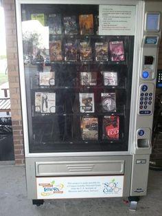 Books in a #vendingmachine?!
