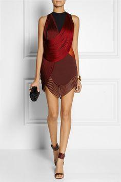 Stella McCartneyFringed stretch-cady mini dress $4,775