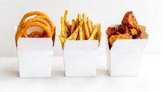 Onion Rings, Herb-Seasoned Fries and Cauliflower Fritters. Seasoned Fries, Cauliflower Fritters, Vegan Comfort Food, Vegan Restaurants, Onion Rings, Plant Based Recipes, Whole Food Recipes, Herbs, Eat