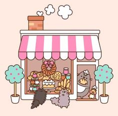 Bakery Pusheen and friends