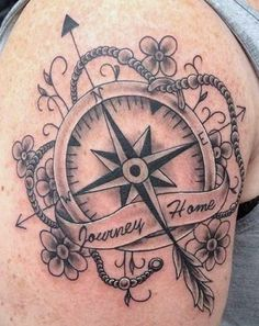 compass rose with banner