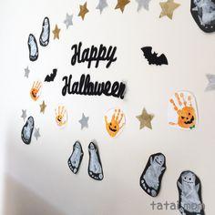 多胎児こそ楽しみたい♫簡単手形足型アート - タタイマム Baby Footprint Crafts, Baby Footprints, Childcare, Halloween, Baby Kids, Happy, Cute, How To Make, Home Decor