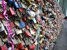 Hohenzollern Bridge - Lovers' locks at the Hohenzollern Bridge. Very cool idea.