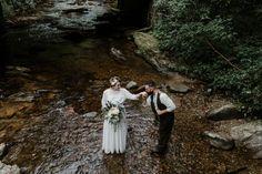 Blue Ridge Parkway Waterfall Elopement | Asheville Wedding Photographer — Asheville Wedding and Elopement Photographer Blue Ridge Parkway, Blue Ridge Mountains, Local Art Galleries, Vow Book, Mountain Elopement, Special Person, Asheville, Vows, Waterfall