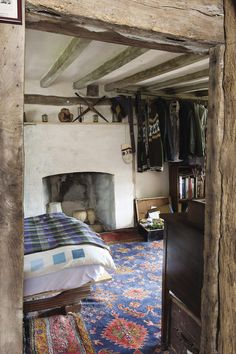20 Inspiration With Curtain Country Bedroom - All Bedroom Design Old Cottage, Cottage Living, Country Living Uk, Welsh Cottage, Living Room, Cottage Interiors, Rustic Interiors, Cottage Design, House Design