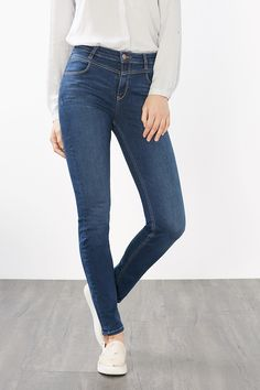 Esprit / Blue denim jeans with shaping effect