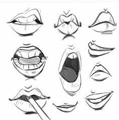 Me gustaron muchos estos dibujos de bocas-labios