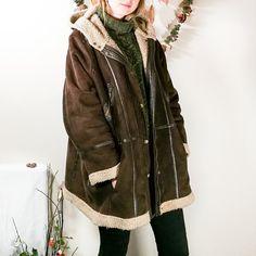 058cf842a9d chocolate brown suede hooded coat Suede Coat