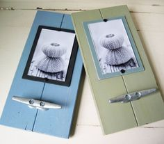 Design your own plank frames - add boat cleats or rope for more coastal accents.