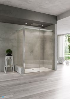 """acqua 5000 • Crystal-clear glass, polished aluminium, smooth movement of the sliding door assisted by the """"automatic close & stop"""" mechanism and a wide range of possible dimensions. All this framed by a unique design, offering a whole new shower emotion. Check out the countless varieties of this shower enclosure."""