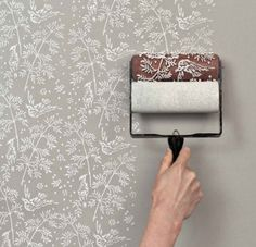 20 Budget Friendly DIY Home Decor Projects.Im not interested in rolling little birdies on the walls, lol, but another oller sounds interesting, assuming there are other designs available. budget friendly home decor Patterned Paint Rollers, Textured Paint Rollers, Paint Rollers With Designs, Diy Casa, Painting Wallpaper, Diy Wallpaper, Bedroom Wallpaper, Wall Paper Bedroom, Kitchen Wallpaper Accent Wall