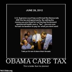 Obama 2008: Health Care Should Never Be Purchased With Tax Increases ...