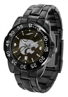 "Kansas State Wildcats Mens Gun Metal Fantom Watch -great gift ""for him!"""
