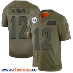 Nike Los Angeles Rams #12 Brandin Cooks Camo Men's Stitched NFL Limited 2019 Salute To Service Jersey