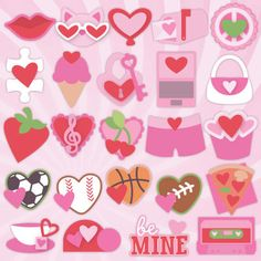 24 Valentines SVG Kit only $6.99 for 24 cards! #silhouettecameo #cricutexplore