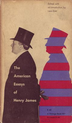 Paul Rand, cover for The American Essays of Henry James (Vintage, 1956) | Book Cover Design