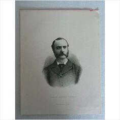 Charles Stewart Parnell - Antique Portrait Print By C Laurie on eBid United Kingdom