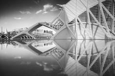 "Title ""Parallel World II"" Valencia Spain Santiago Calatrava Architecture Fine Art Photography B&W Post Processing Nikon Zeiss Photography Workshops, Fine Art Photography, Valencia Spain, Santiago Calatrava, Exposure Photography, Long Exposure, Fair Grounds, Architecture, World"