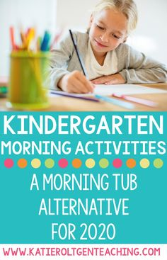 Kindergarten Morning Activities – A Morning Tubs Alternative for 2020 - These morning activities aren't stored in bins and don't require students to share materials! They cover basic kindergarten skills such as counting, letter identification, rhyming, shapes, and fine motor. Kindergarten Schedule, Kindergarten Assessment, Kindergarten Morning Work, Kindergarten Rocks, Homeschool Kindergarten, Preschool Learning Activities, Kindergarten Reading, Shape Activities, Homeschooling