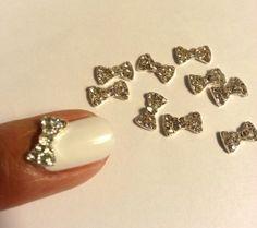3D Bling Bling Nail art Bows by PrettyGirlNailSwag on Etsy, $3.50